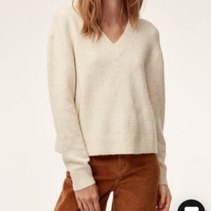 Aritzia wilfred free kraus alpaca wool sweater